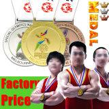 Значок металла Zlloy цинка способа золотистым выгравированный медалью изготовленный на заказ