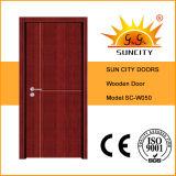 経済的な安全木MDFの内部の木のドア(SC-W050)