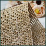Tela de engranzamento material do PVC do Rattan da cadeira do balanço para o uso da cadeira de praia