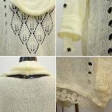 女性のモヘアの不足分の袖のタートル・ネックのプルオーバー