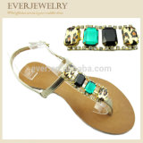 Heißes Verkaufrhinestone-Schuh-Oberleder für Frauen-Sandelholz-Schuhe