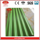 Панель стены зеленого волнистого листового металла PVDF/Powder Coated алюминиевого декоративная (Jh121)
