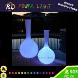정원 가구 플라스틱에 의하여 조명되는 LED 꽃 화병