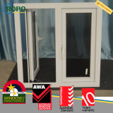 Casa moderna Windows, indicador francês plástico do Casement de UPVC/PVC