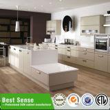 Gabinetes de cozinha brancos da laca do lustro elevado à moda do projeto
