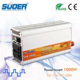 Инвертор силы автомобиля высокого качества Suoer с DC 12V зуммера 1000W к AC 230V (USB-1000A)