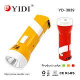 Linterna casera recargable de China 0.5W LED con la batería