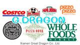 외부 백색과 자연 적이고 또는 Kraft 실내 피자 상자 (PIZZA-021)