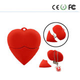 Lovely Red Heart Modelo USB 2.0 Memory Stick Flash Pen Drive