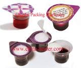 Máquina de enchimento da selagem do copo Pre-Cut automático do Yogurt da folha