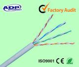고속 UTP Cat5e 근거리 통신망 케이블 4pr 24AWG 0.5mm 구리 또는 CCA 단단한 통신망 케이블 305m
