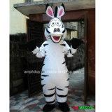 動物のシマウマのマスコットの漫画の衣裳は2人のシマウマのマスコットの衣裳を供給する