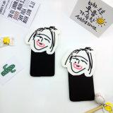 Caja encantadora del silicio de la sonrisa del hombre y de la mujer para el iPhone 6s más