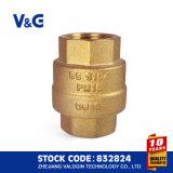 Válvula de verificación de cobre amarillo del resorte del acero inoxidable (VG12.90081)