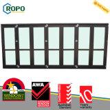 Doppeltes glasig-glänzende UPVC/PVC faltende Akkordeon-Glas-Tür