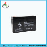 6V 7ah VRLA Rechargeable Sealed Lead Acid Battery voor UPS