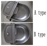 Cuvette vétérinaire de l'eau de buveur d'acier inoxydable (KD620)