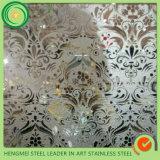 Gravure de miroir de feuille d'acier inoxydable des pieds 304 de GV 4*8 pour la décoration de mur