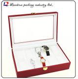 Cadre de mémoire en cuir de luxe d'étalage d'emballage de montre (Sy07)