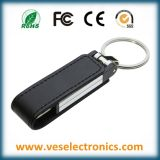 Memória Flash de couro do USB do Keyring