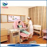 Elektrische Höhegehen justierbare Gynecology-LDR zu Bett