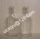 180ml ~300ml flacher Spiritus-Glasflaschen, Wein-Glasflasche, Glaswein-Flasche, Korn-Spiritus-Glasflaschen mit Überwurfmutter