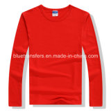 T-shirts de blanc de chemise de coton de 220GSM 60% longs pour les hommes