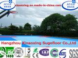 Bevloering van het Basketbal van de Sport van de Driehoek van het stadion de Met elkaar verbindende