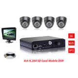 4channels D1 Mini Sd Card 3G + WiFi+GPS+G-Force Schulbus Mobile DVR