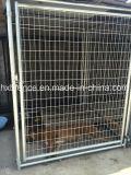 MERGULHO quente galvanizado em volta da gaiola ao ar livre do cão do engranzamento de fio da câmara de ar