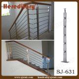 Cabo do terraço do revestimento do cetim que cerc o corrimão do aço inoxidável (SJ-H1027)
