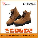 بقرة [سود] جلد فولاذ إصبع قدم سمة أمان عداءة أحذية