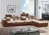 L sofà del tessuto di figura con il bracciolo