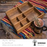Hongdao artesanía de madera de pulsera de joyería de visualización de embalaje Box_D