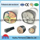 PVC силового кабеля 4 сердечников изолированный с стальным проводом бронированный