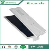 15W--luz de rua 120W solar com painel solar, controlador e bateria