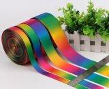 Cinta colorida del satén del poliester del embalaje