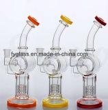 Miniglaswasser-Rohr mit bereiten Ölplattformen für rauchendes Wasser-Rohr auf
