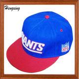 Sombrero colorido del Snapback del casquillo rojo de los 5 paneles