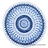 여자를 위한 아름다운 둥근 인쇄된 비치 타올