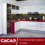 Weiße Rose/rosiger roter Schwefeln-Lack-Lack-Küche-Schrank (CAIK-02)