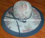 sombrero de las mujeres de la trenza del papel de imprenta