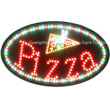 LED Oval pizza signo con iluminación LED de alto brillo