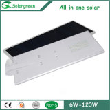 15W--120W太陽電池パネル、コントローラおよび電池が付いている太陽街灯