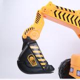 Electrice caçoa o brinquedo da máquina escavadora, carro do brinquedo dos miúdos