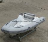 Bateau gonflable rigide de fibre de verre d'Aqualand 16feet 4.7m/bateau pêche de côte (RIB470C)