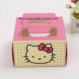 Цветастая модная конструированная коробка десерта с оживленный изображениями