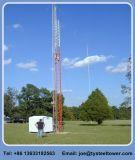Башня оттяжки антенны треугольника для телекоммуникаций