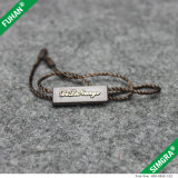 Moda de plástico Tag do presente com corda