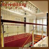 Balaustra del balcone dell'acciaio inossidabile di vetro del viale/villa/piatto dell'hotel (SJ-023)